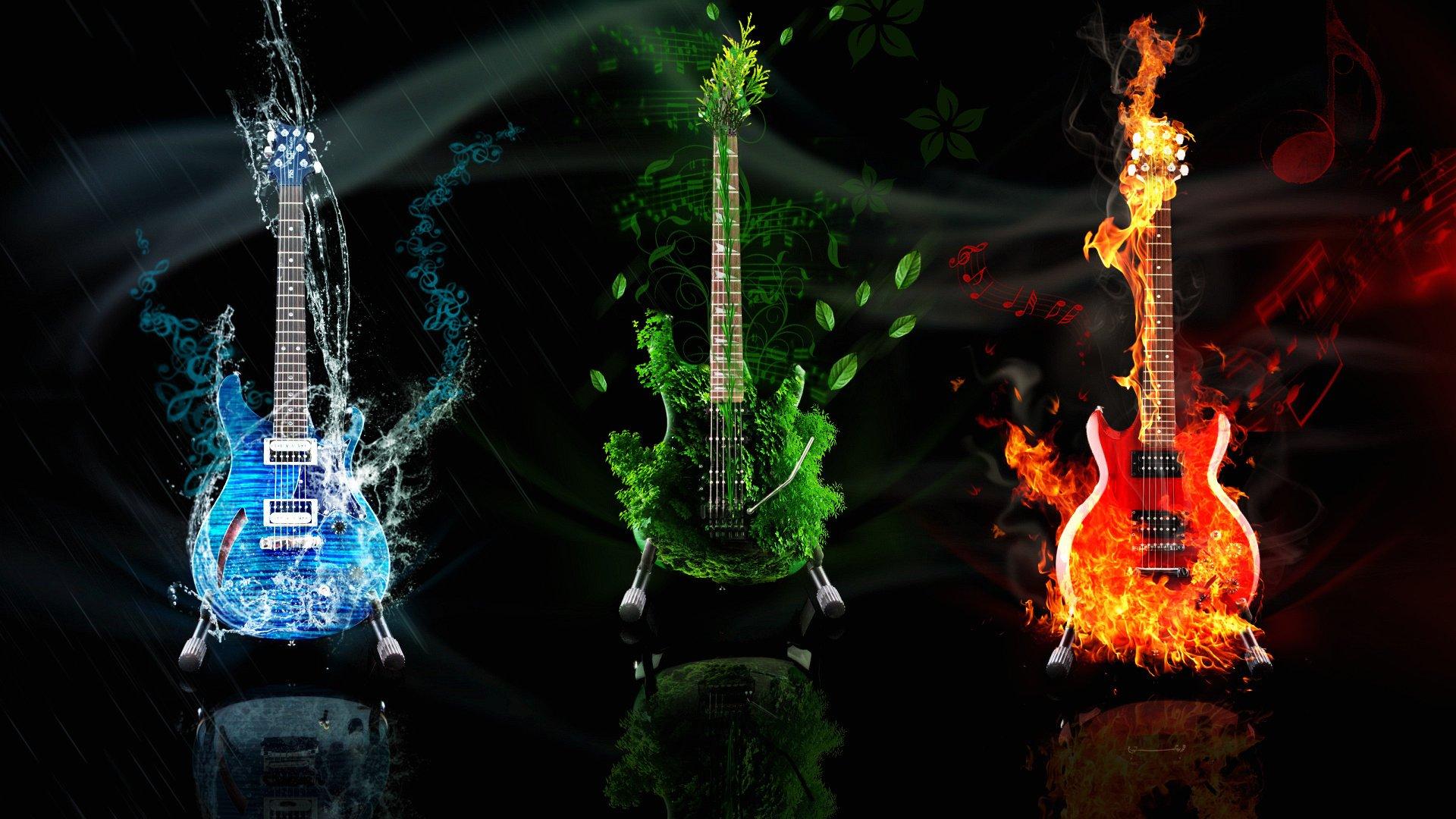 Flaming guitars wallpaper   1259071 1920x1080