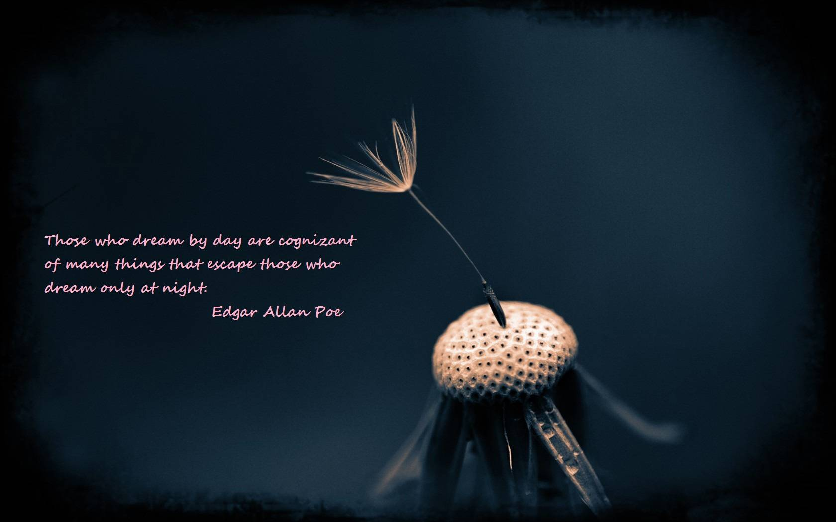 Edgar Allan Poe Quotes 3 A picture of Edgar Allan Poe along with a 1680x1050