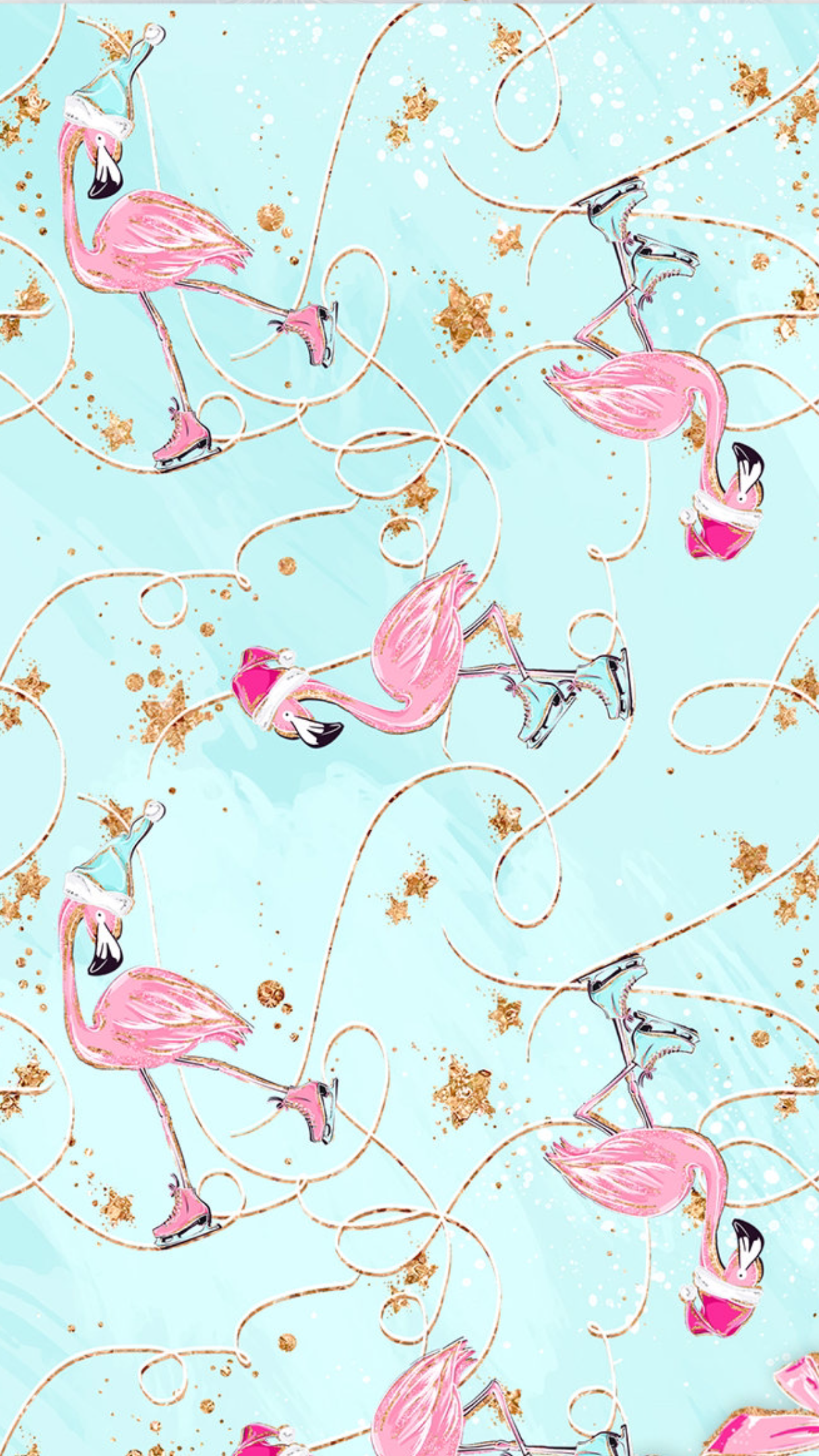 Flamingo christmas Fancy flamingo 1242x2208