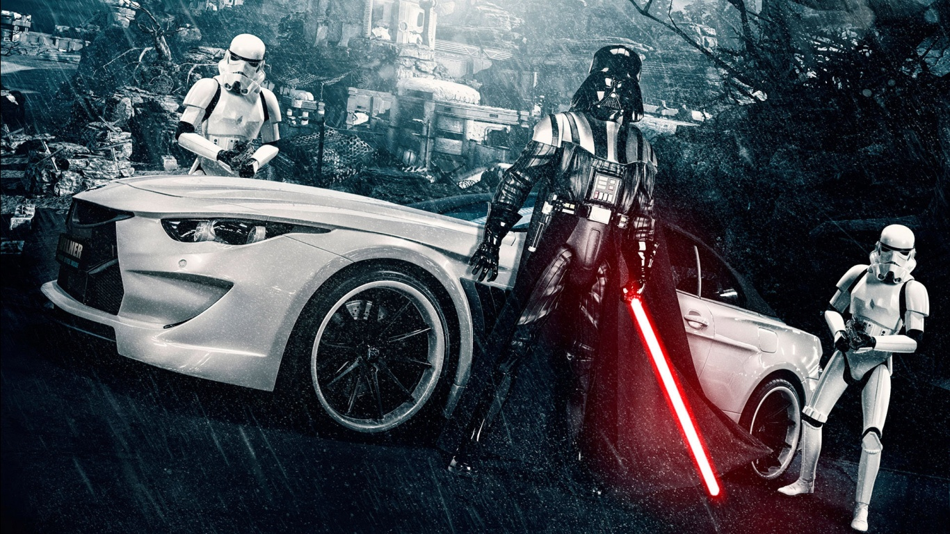 Stormtrooper BMW M6 by Vilner Wallpapers HD Wallpapers 1366x768
