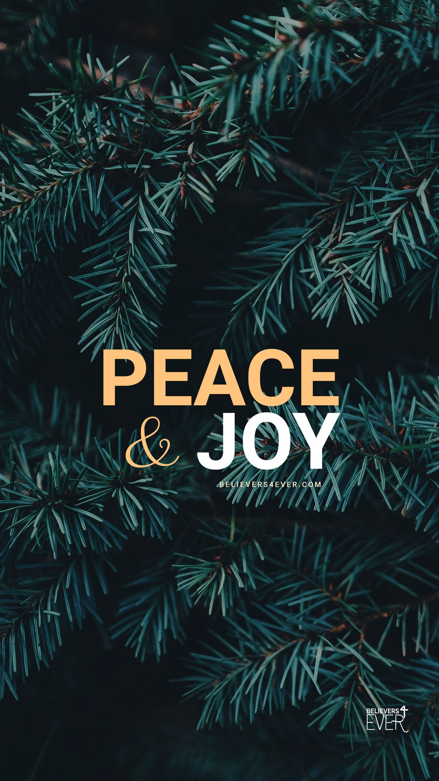 Peace and Joy   Believers4evercom Wallpaper iphone christmas 1440x2561
