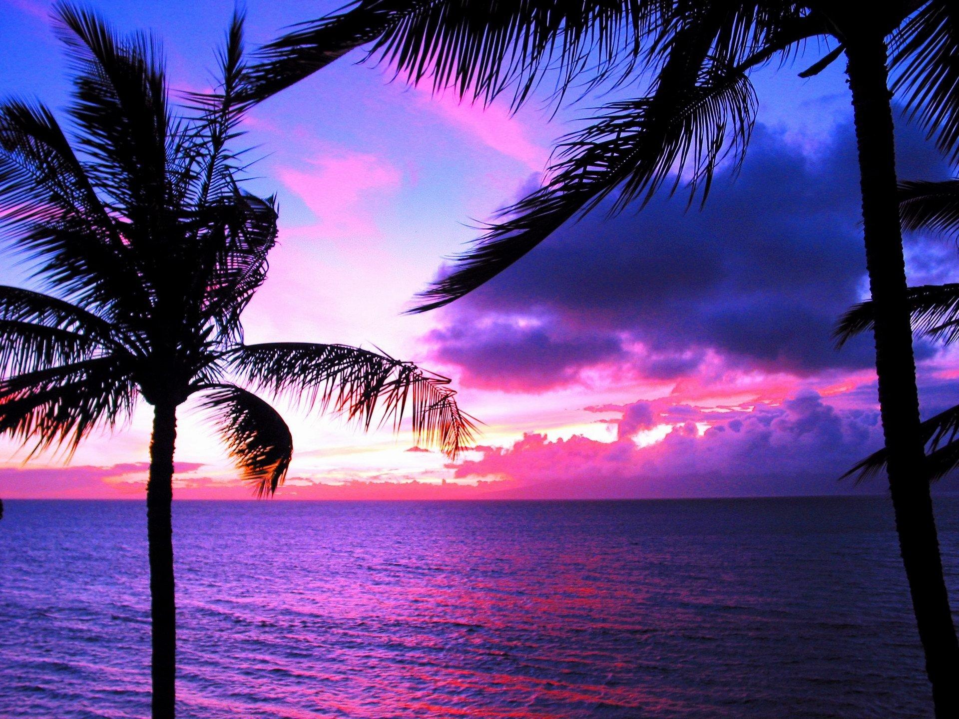 Hawaii Sunset Desktop Wallpaper 16294 Full HD Wallpaper Desktop ...