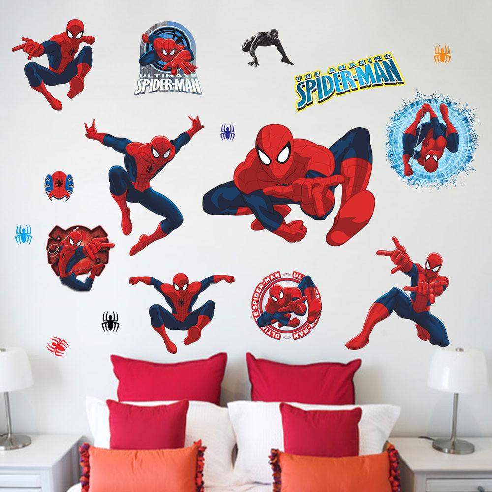 Spider Man Kids Room Decor Boy Gift Wall Sticker Wall Decals Wallpaper 1000x1000