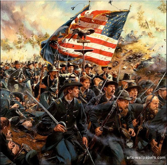 american civil war paintings art prints gallery pictures artworks 662x654