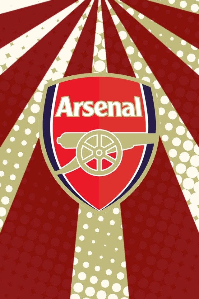 Arsenal FC Logo iPhone 4 Wallpaper and iPhone 4S Wallpaper 640x960