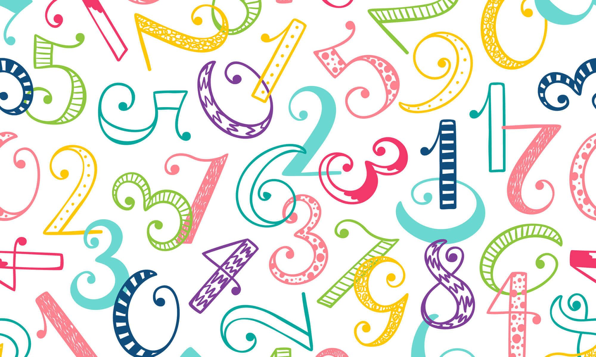 Abstract Number Wallpapers   Top Abstract Number Backgrounds 2000x1200
