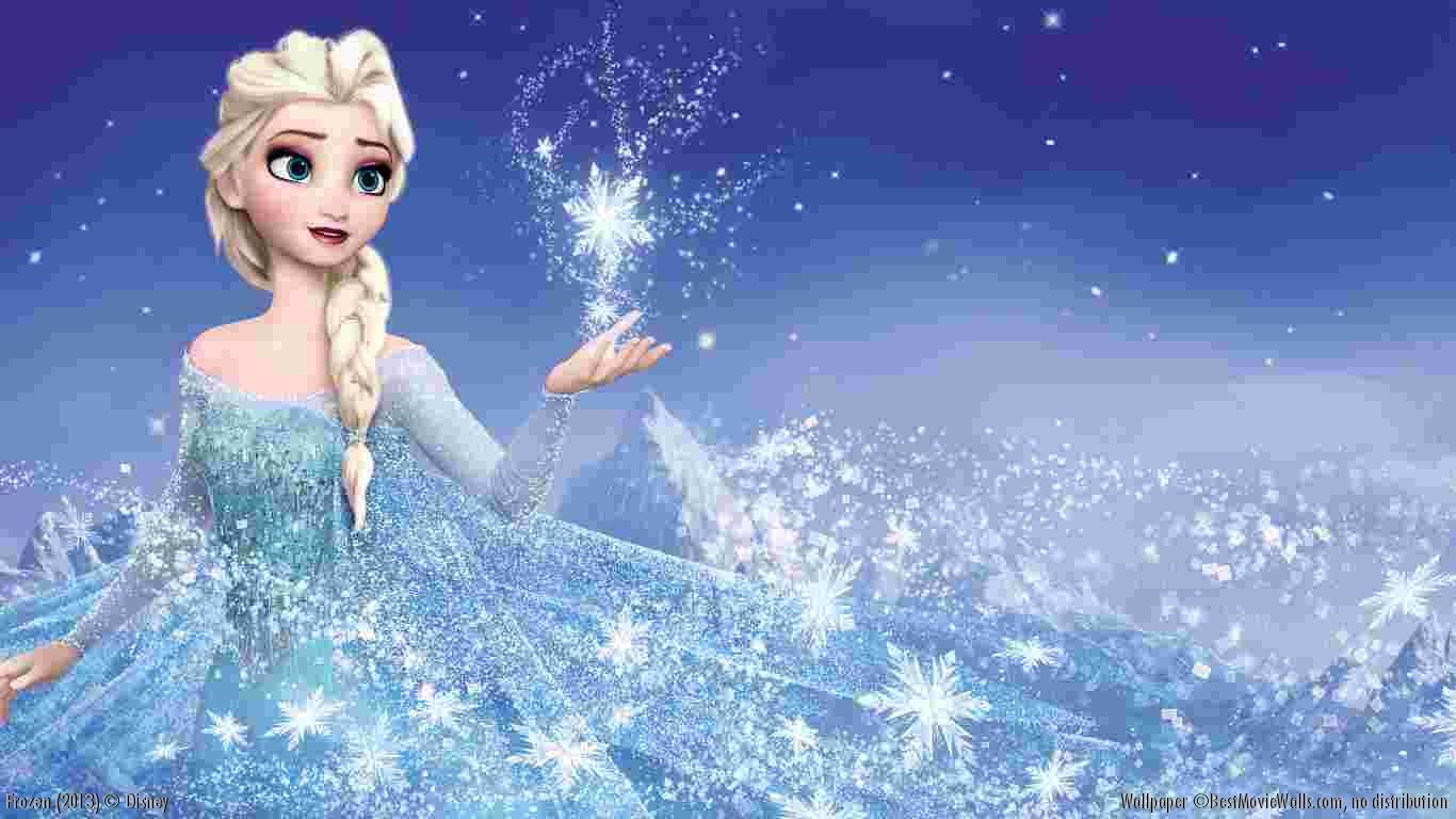 Frozen Disney Movie Wallpaper Elsa Hd   1366x768 iWallHD   Wallpaper 1366x768