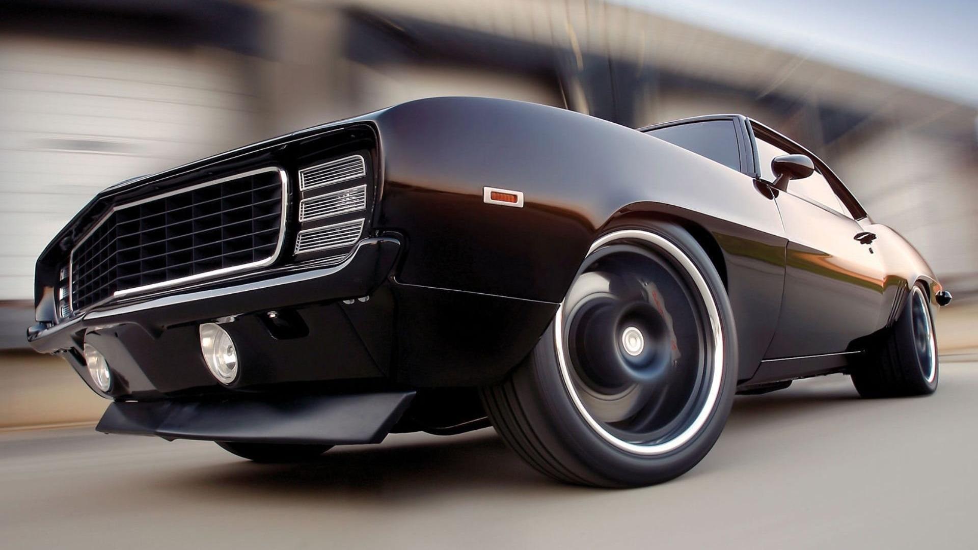 Black 69 Chevrolet Camaro Wallpaper   HD 1920x1080