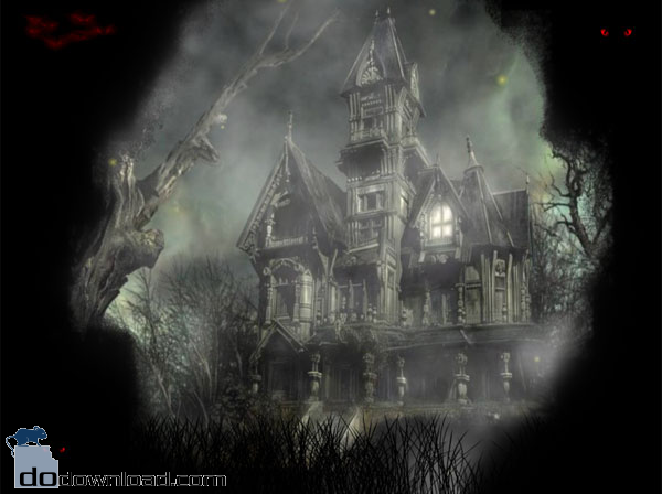 Halloween Mansion Animated Wallpaper image The scary animated desktop 600x448
