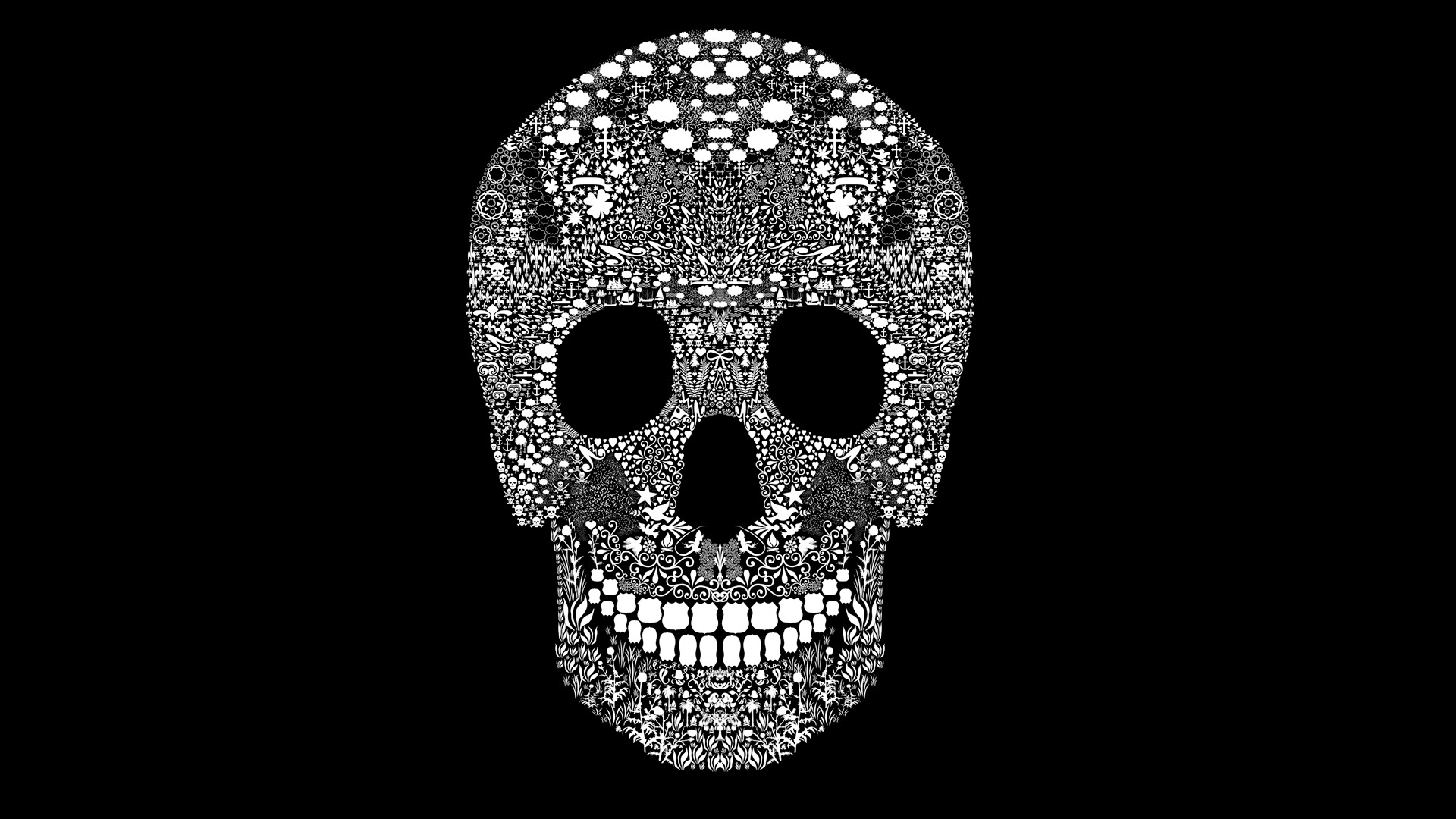 Free Download Black And White Skull Wallpaper Hd Wallpapers Pretty