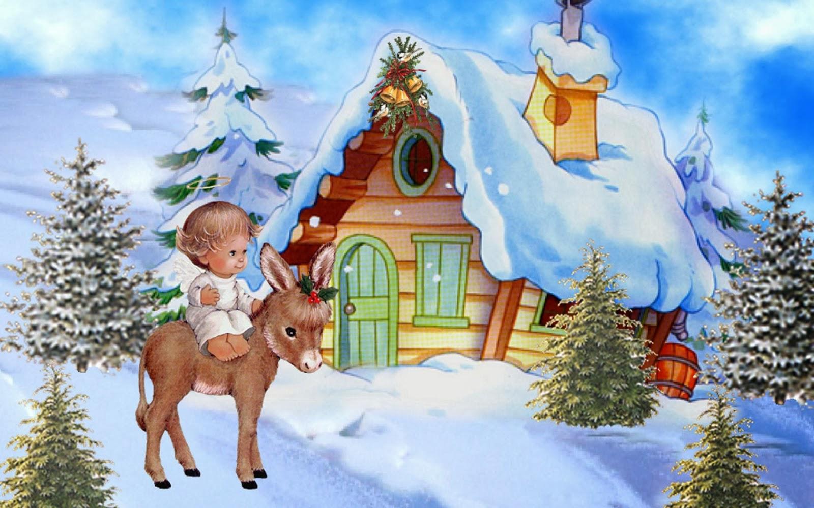 Little Baby Christmas Angel Desktop Wallpaperjpg 1600x1000