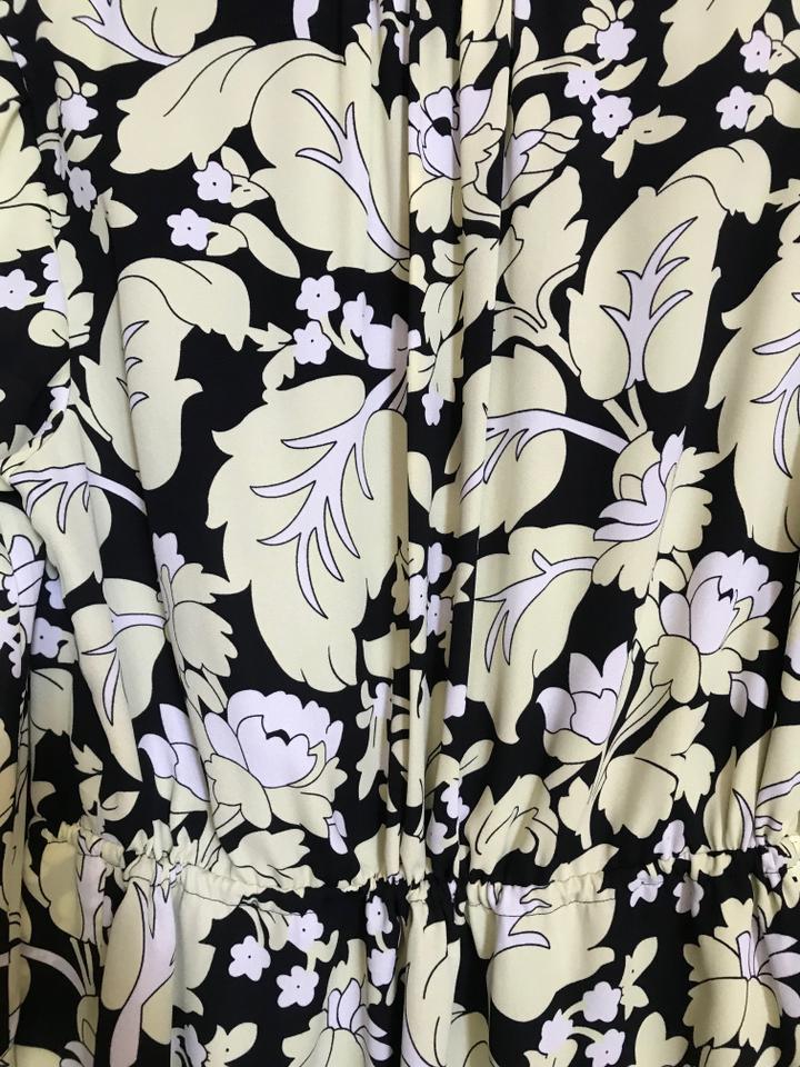 Diane von Furstenberg Multicolor L Dvf Freya Wallpaper Leaf Black 720x960