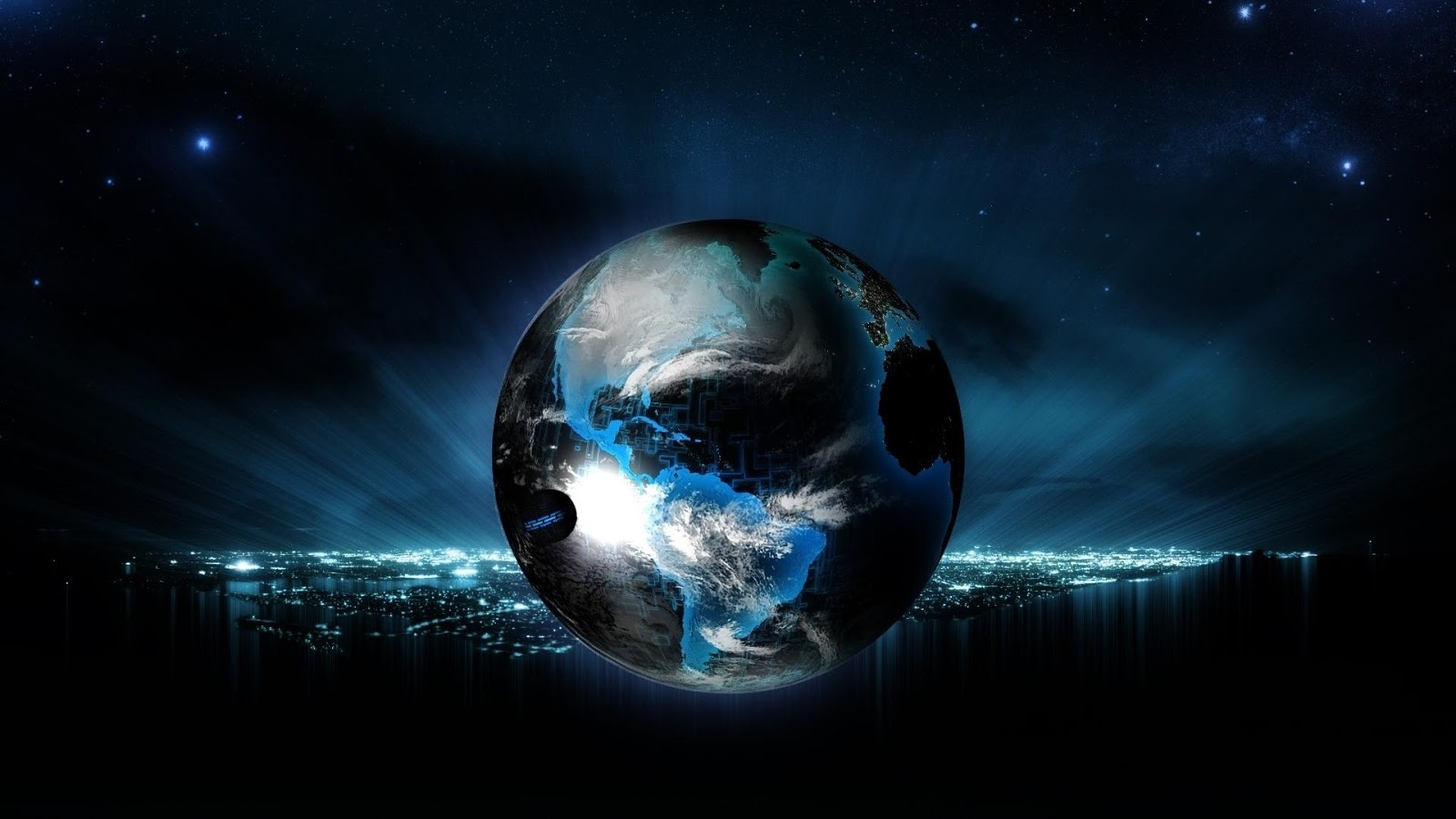 Earth 3d space travel screensaver