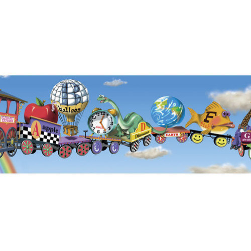 Walls Alphabet Train Mural Style Wallpaper Border   Walmartcom 500x500