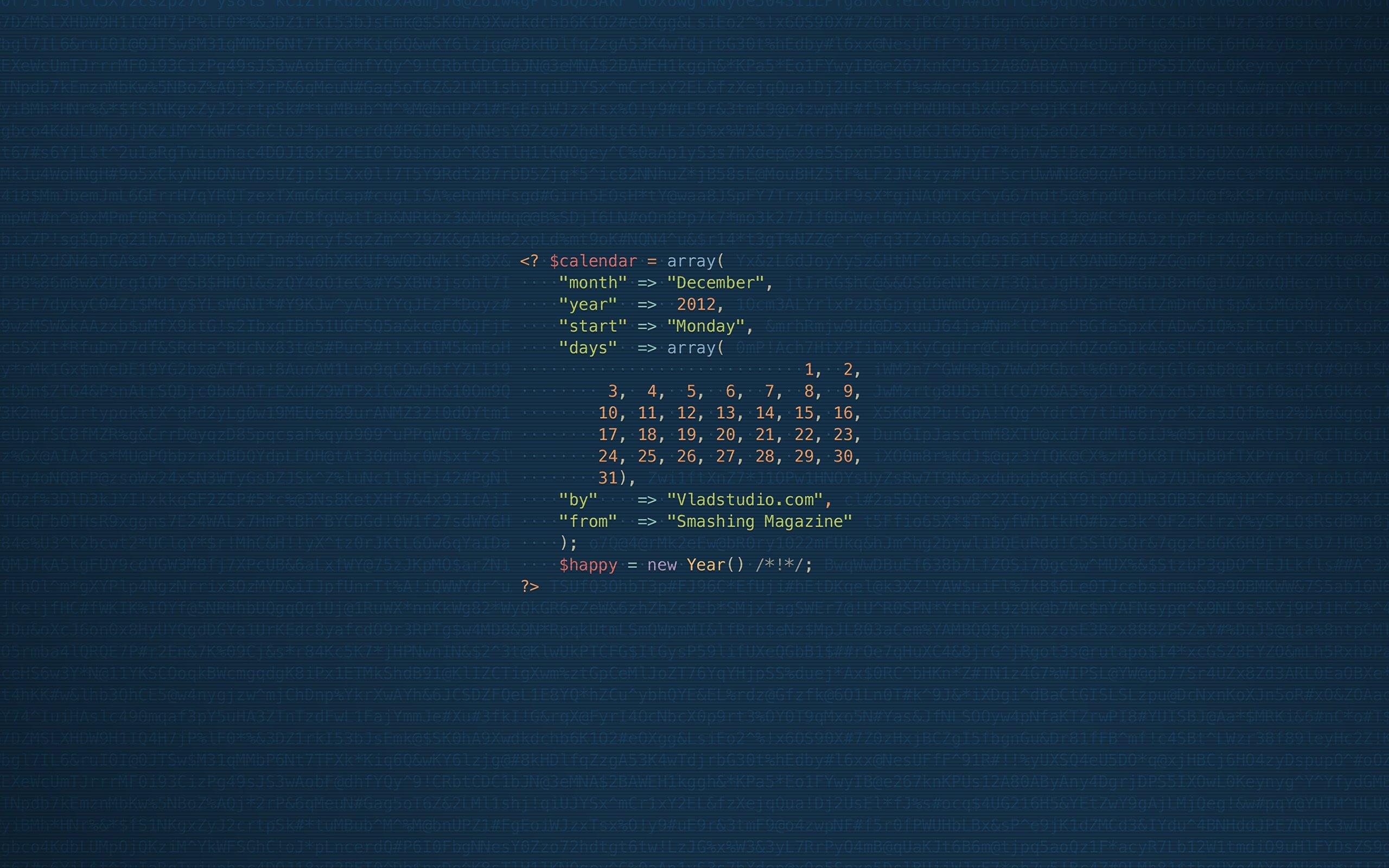 Intelligent Programing Code Wallpapers 2560x1600