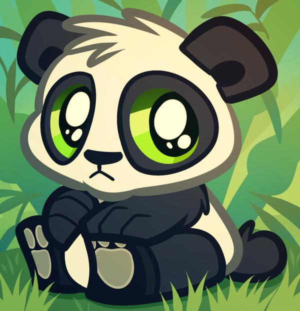 Baby Panda Bear Cartoon Panda Cub by Dragoart 600x622