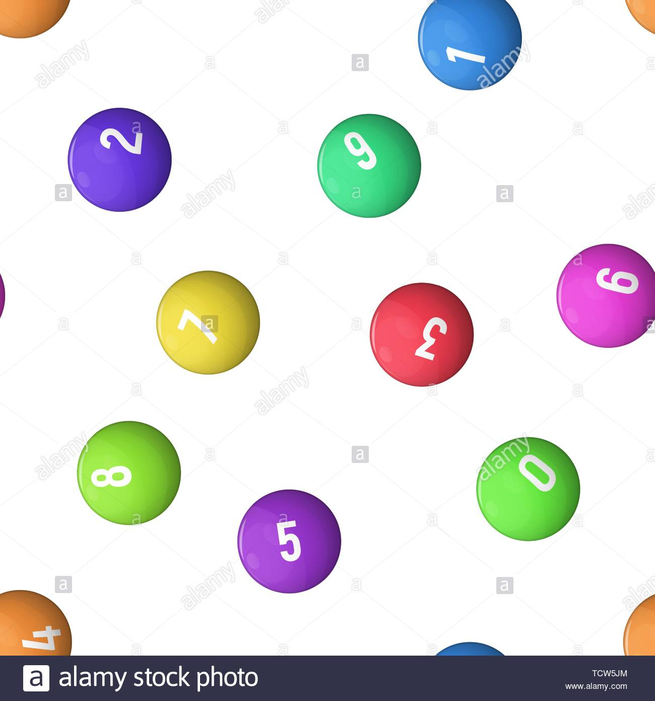 Balls for lottery Vector illustration wallpaper Seamless pattern 1300x1390