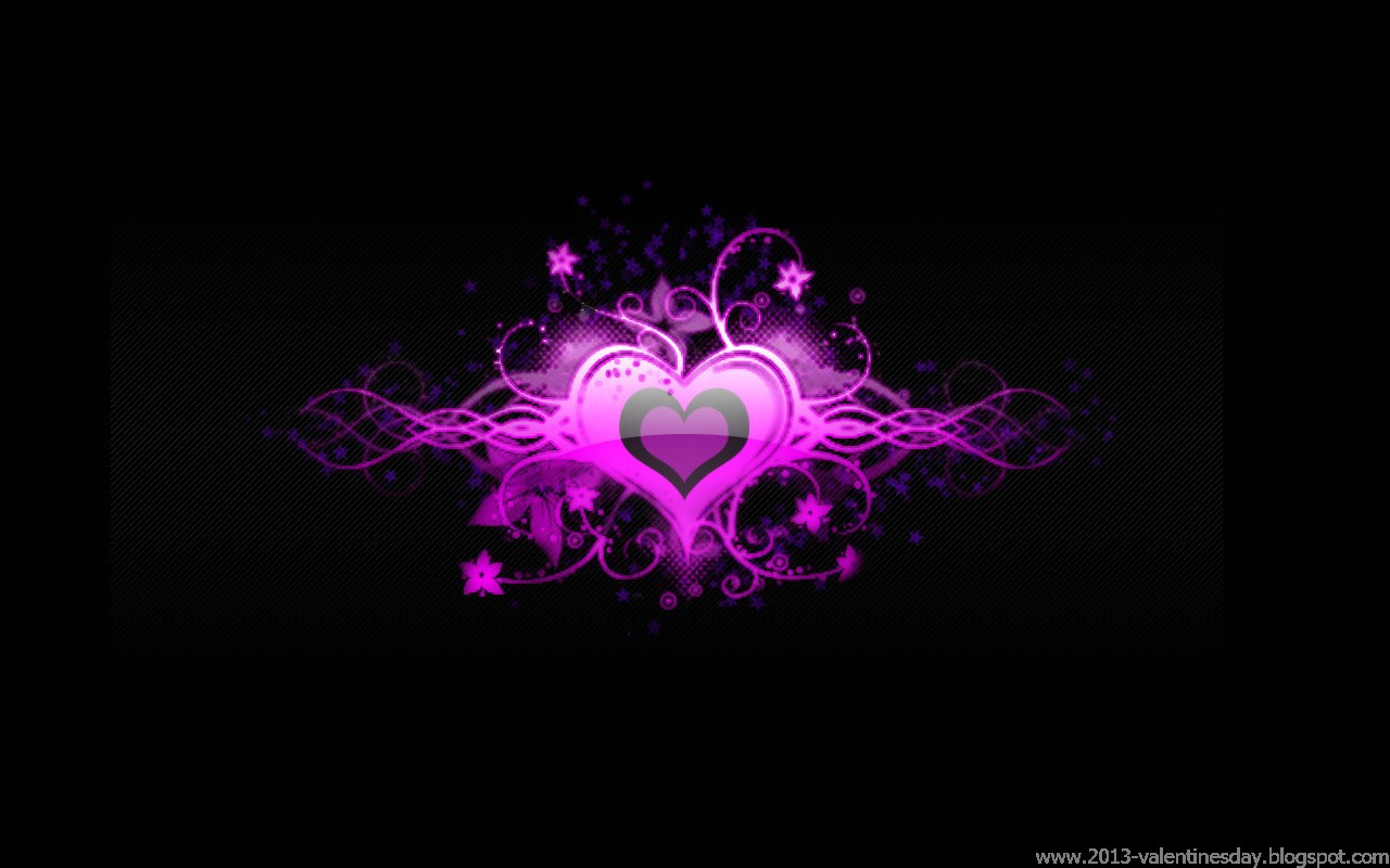Happy Valentines Day heart and love wallpapers 1280x800