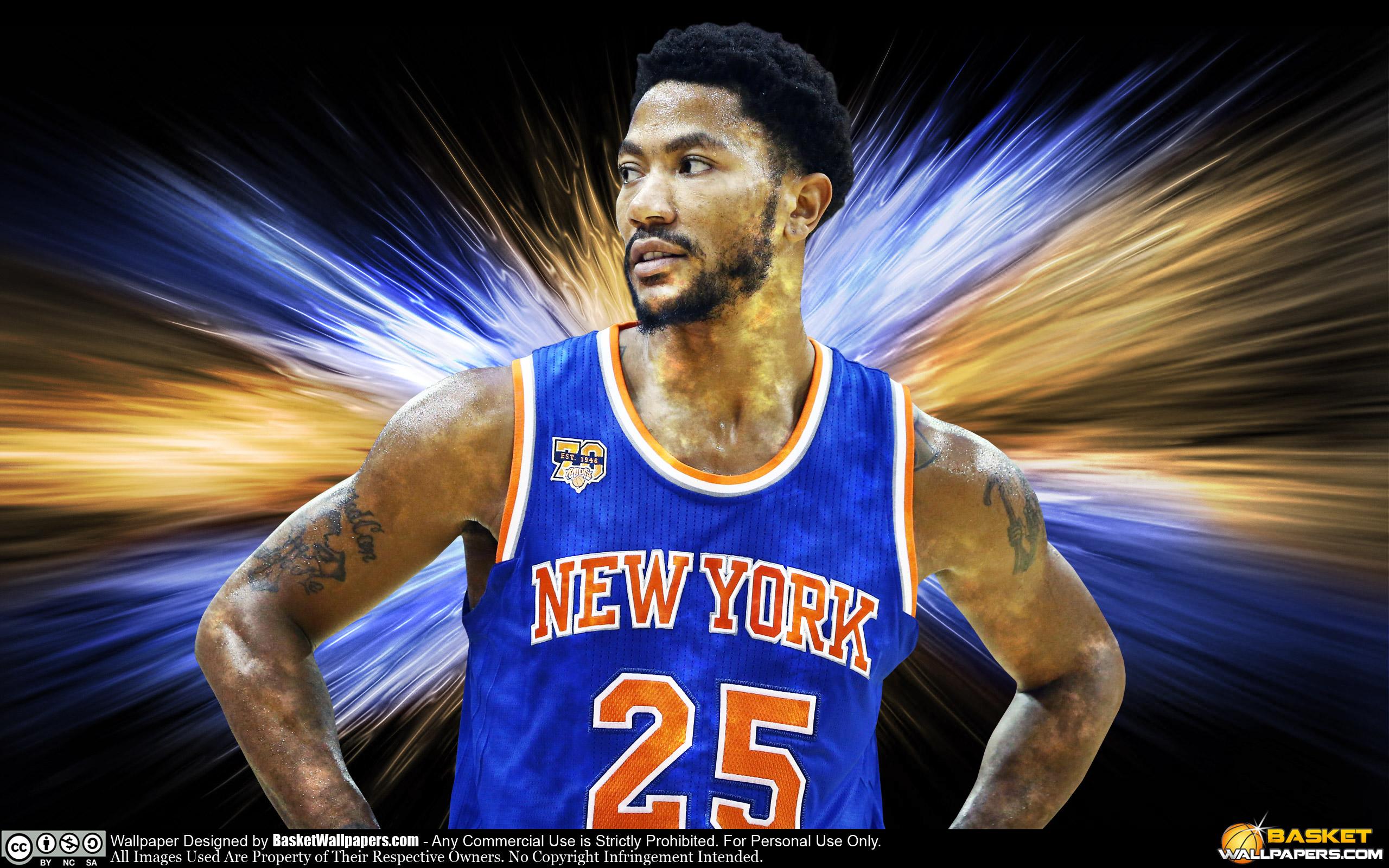 Derrick Rose New York Knicks 2016 Wallpaper Basketball 2560x1600