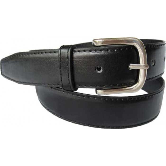 Black Stitched Dress Belt   Genuine Leather BeltBucklecom 700x700