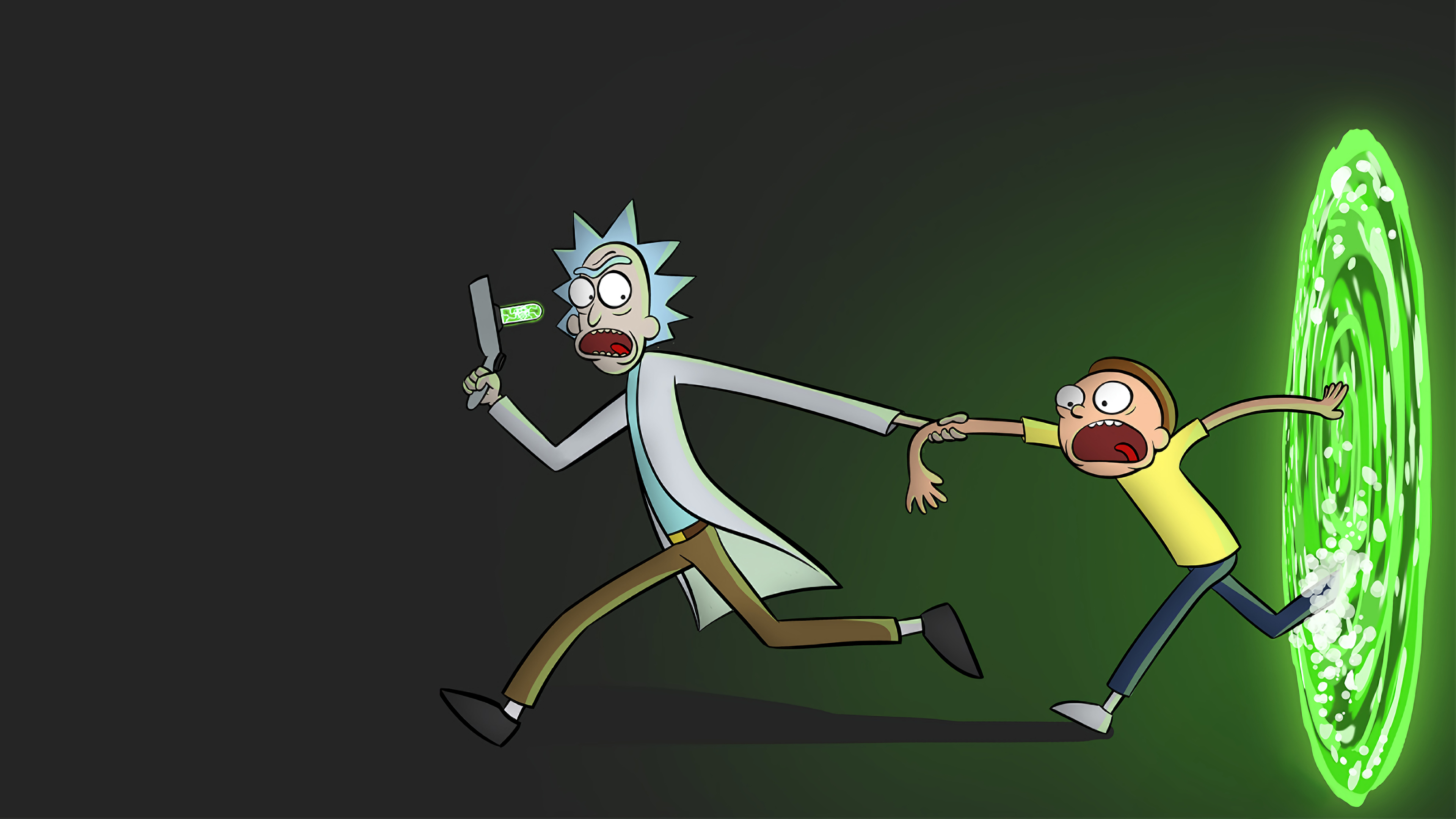 Rick and Morty Portal Wallpaper HD TV Series 4K Wallpapers 3840x2160