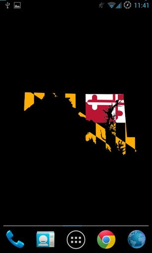 Maryland Flag Map LWP App for Android 307x512