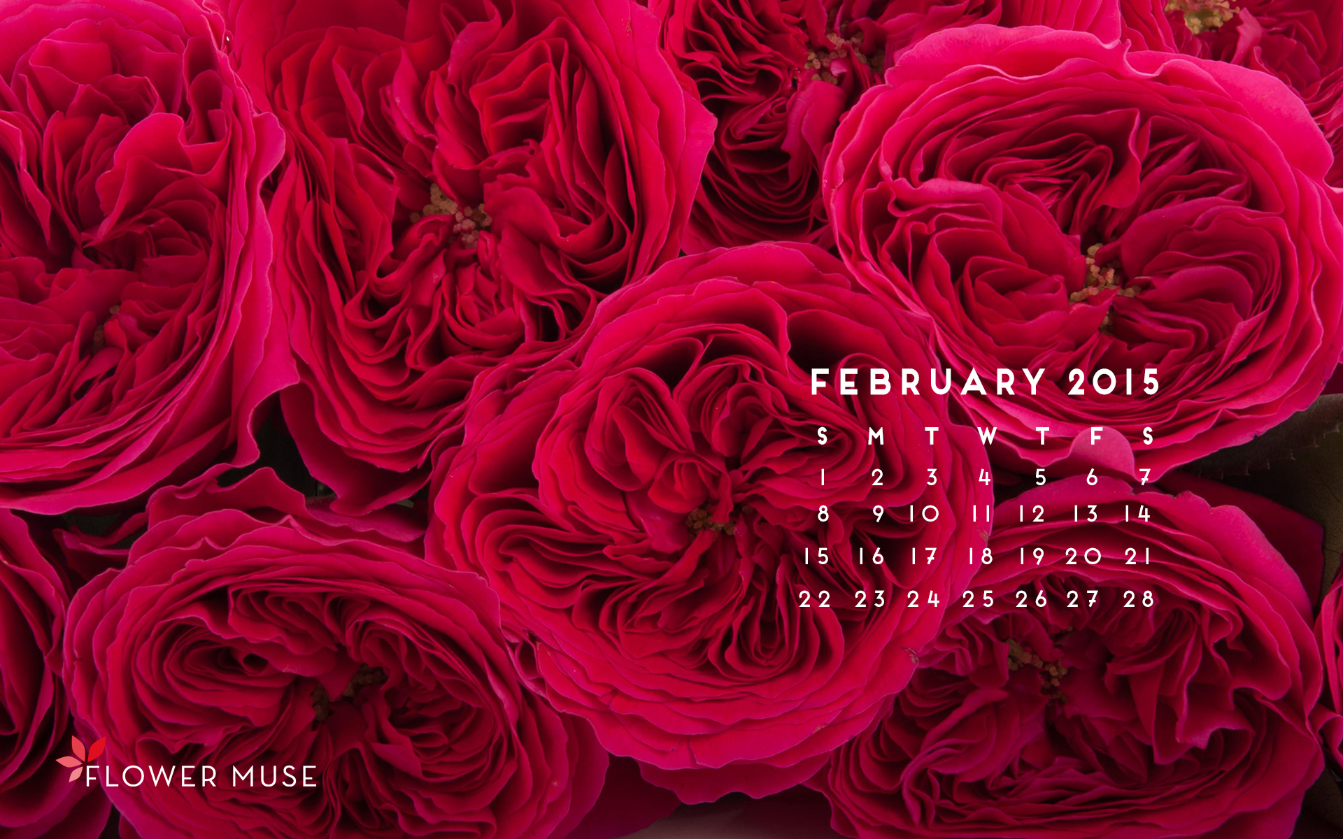 February 2015 Calendar Flower Muse Blog 1920x1200