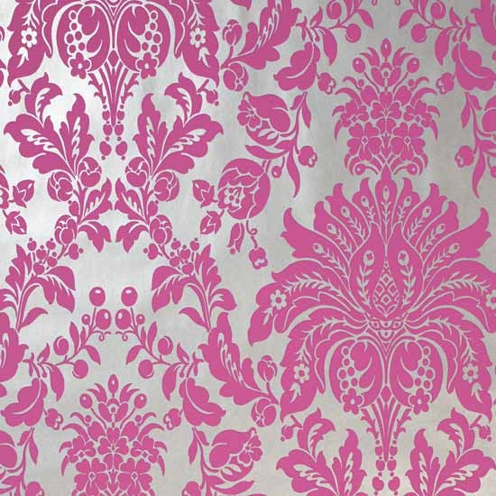 pink wallpaper web Black And Pink Damask Wallpaper 550x550