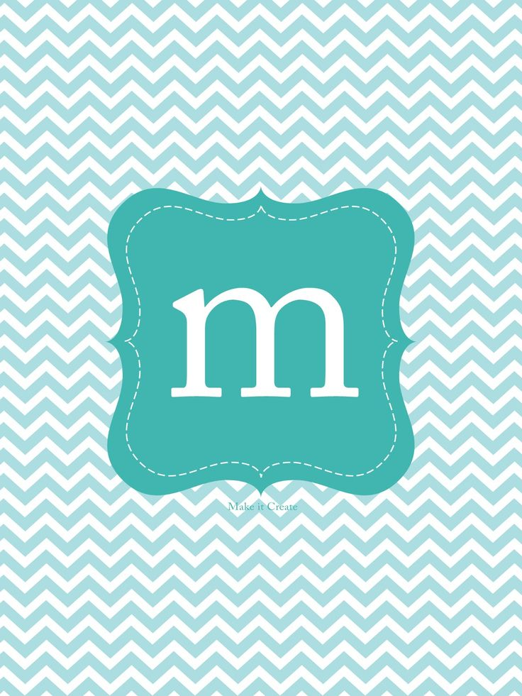 Teal chevron M Cool backgrounds Pinterest 736x981