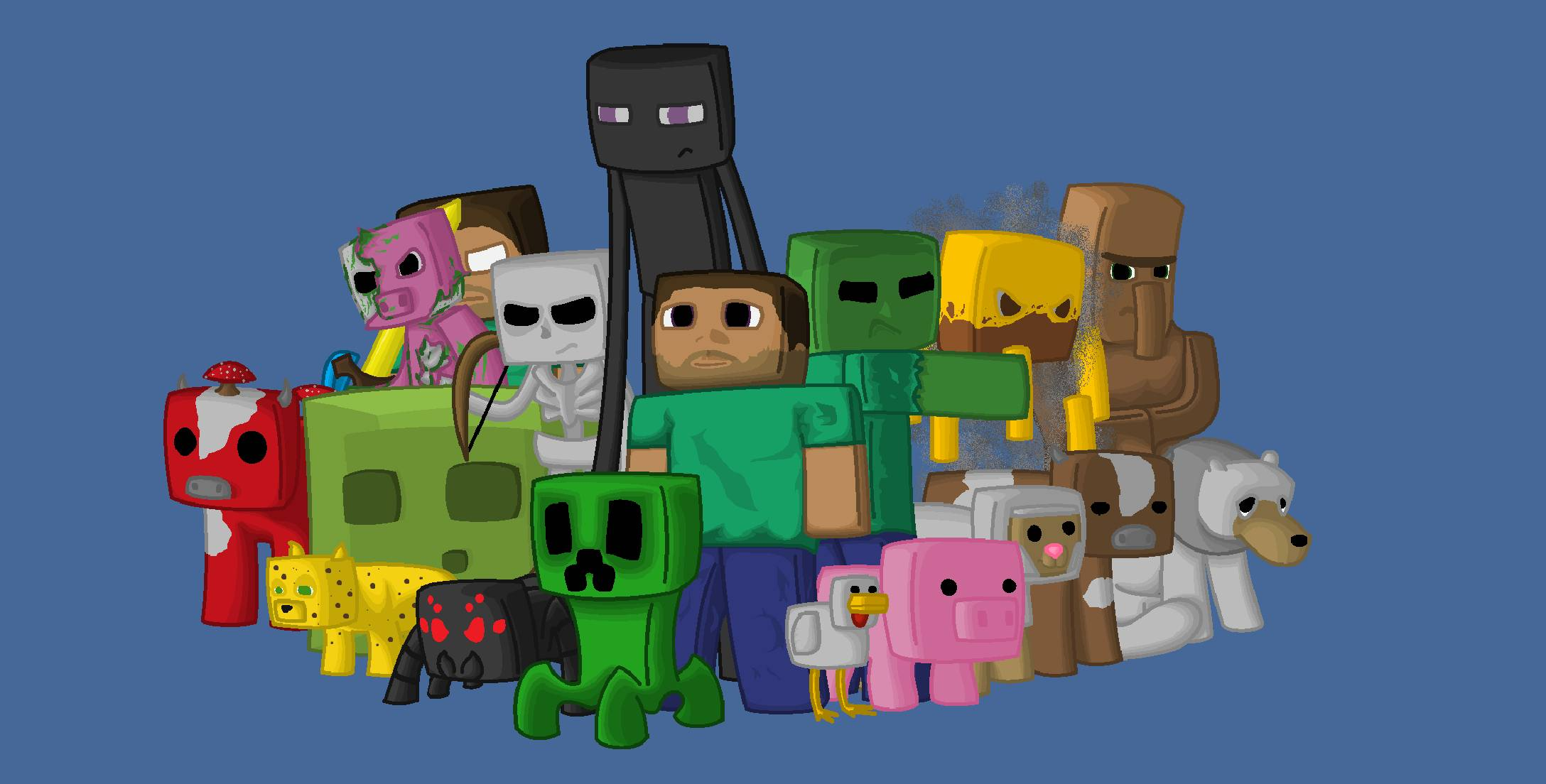 MineCraft fan art   Minecraft Fanart 2176x1104