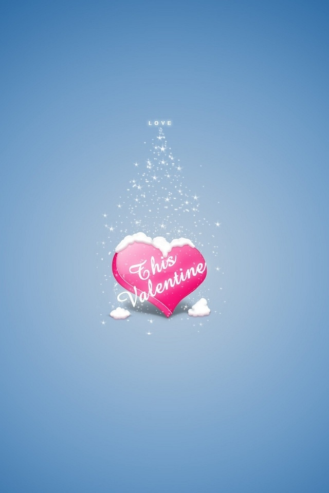 Cute Heart Wallpapers For Iphone Cute valentine heart iphone 4 640x960