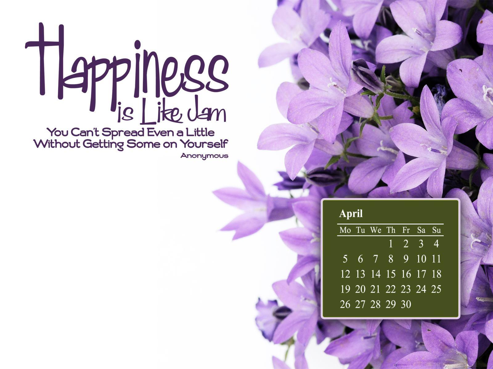 April 2010 Calendar Desktop Wallpaper 1 1600x1200