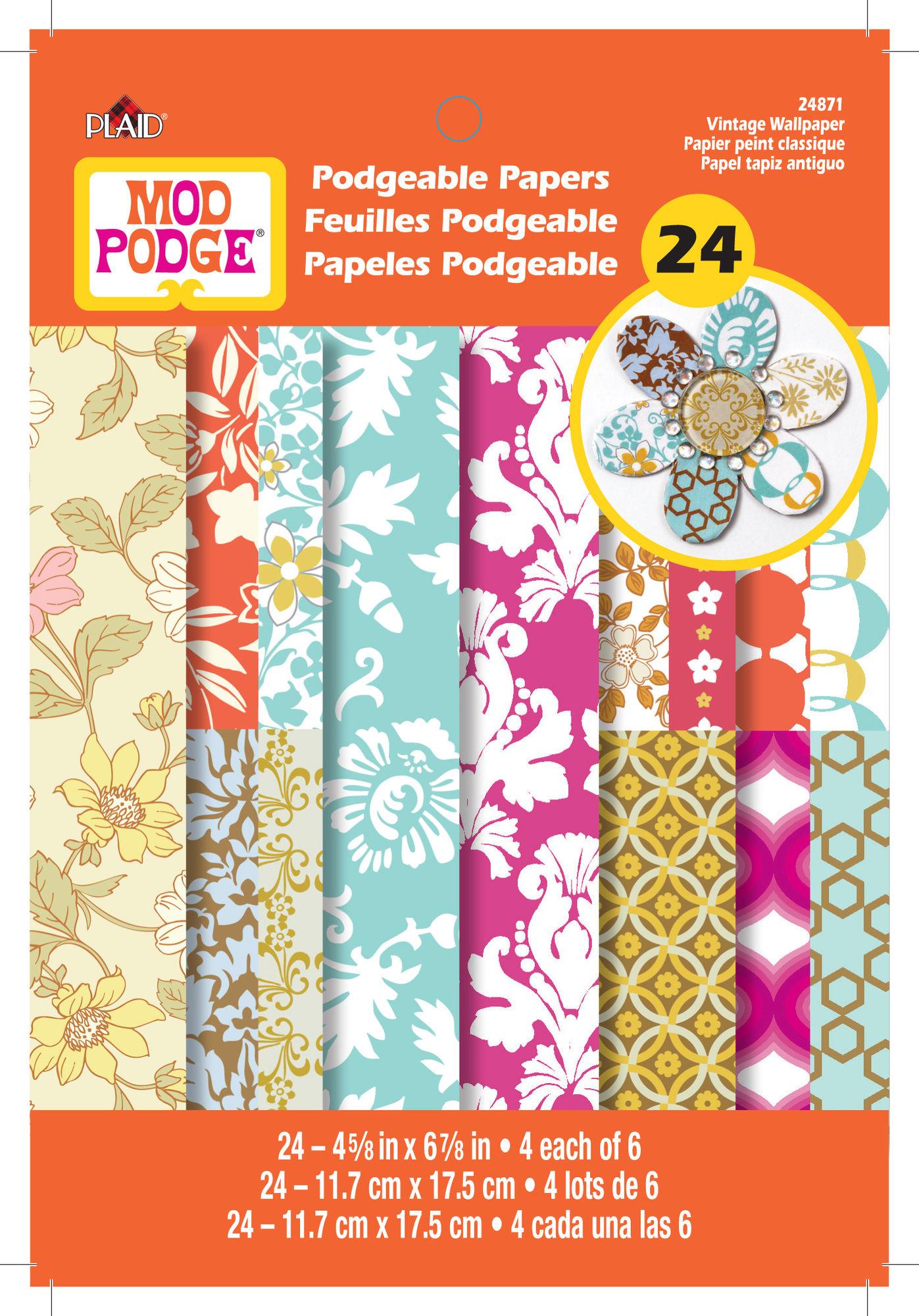 Mod Podge 24pc Papers   Vintage Wallpaper 1397x2000