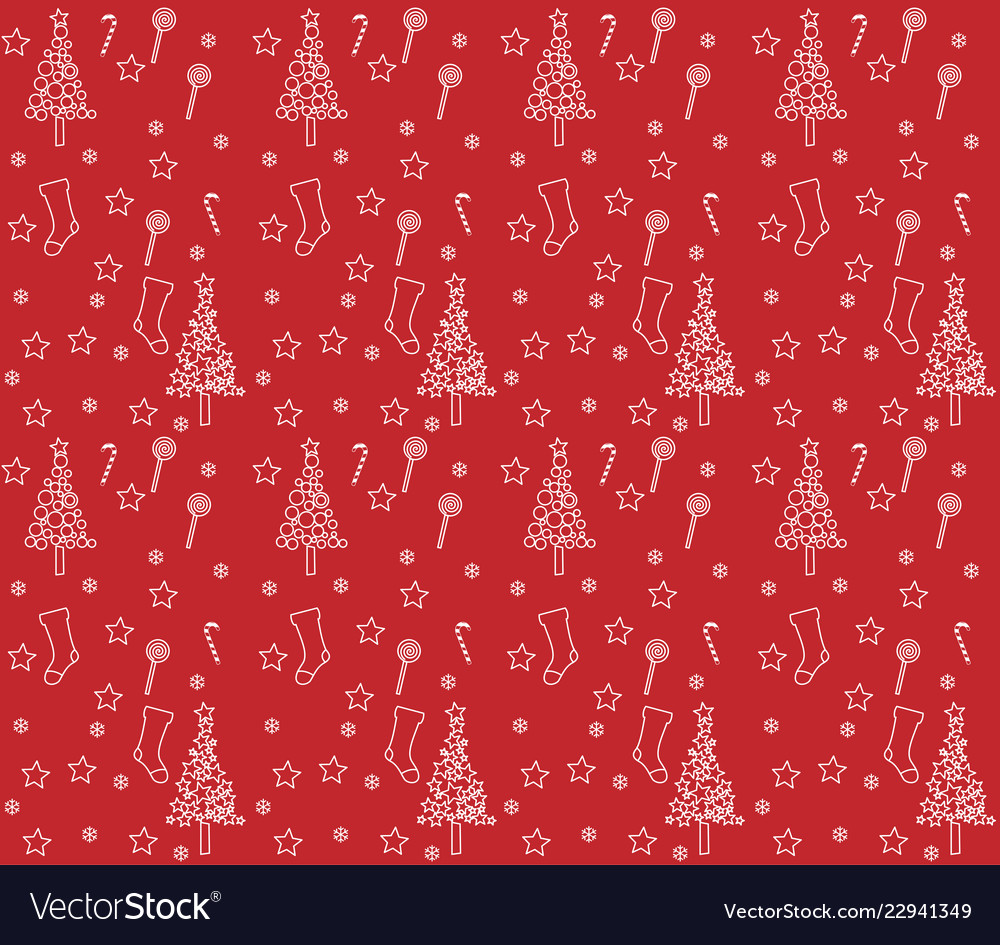 Red wrapping paper with background of christmas bo 1000x945
