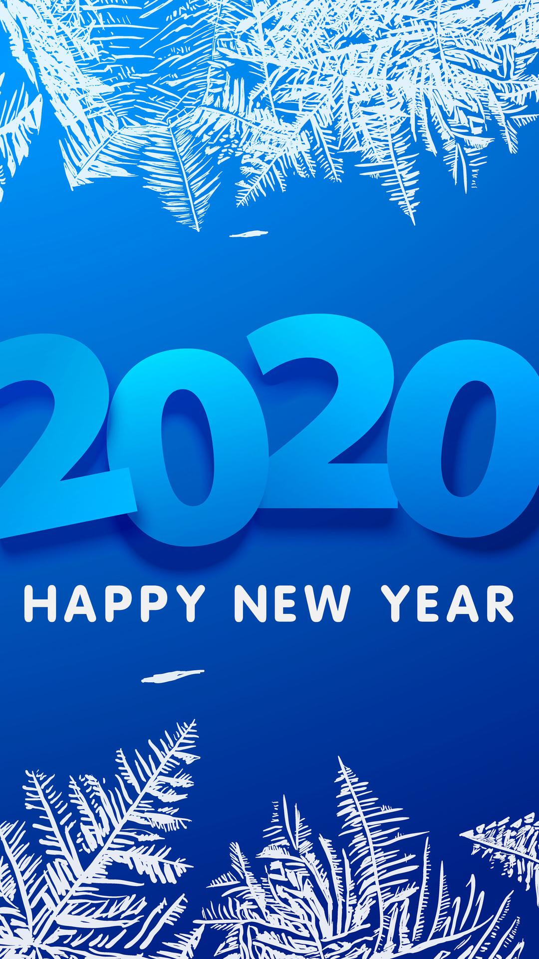 2020 Happy New Year 8K Wallpaper 42309 1080x1920