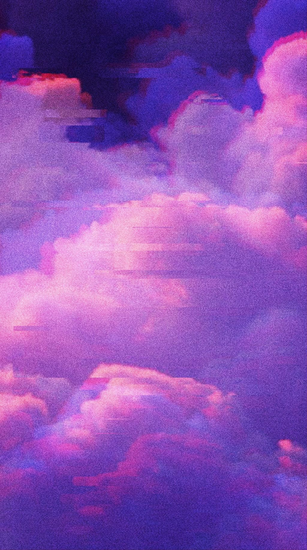 Free Download Free Aesthetic Glitch Cloud Background
