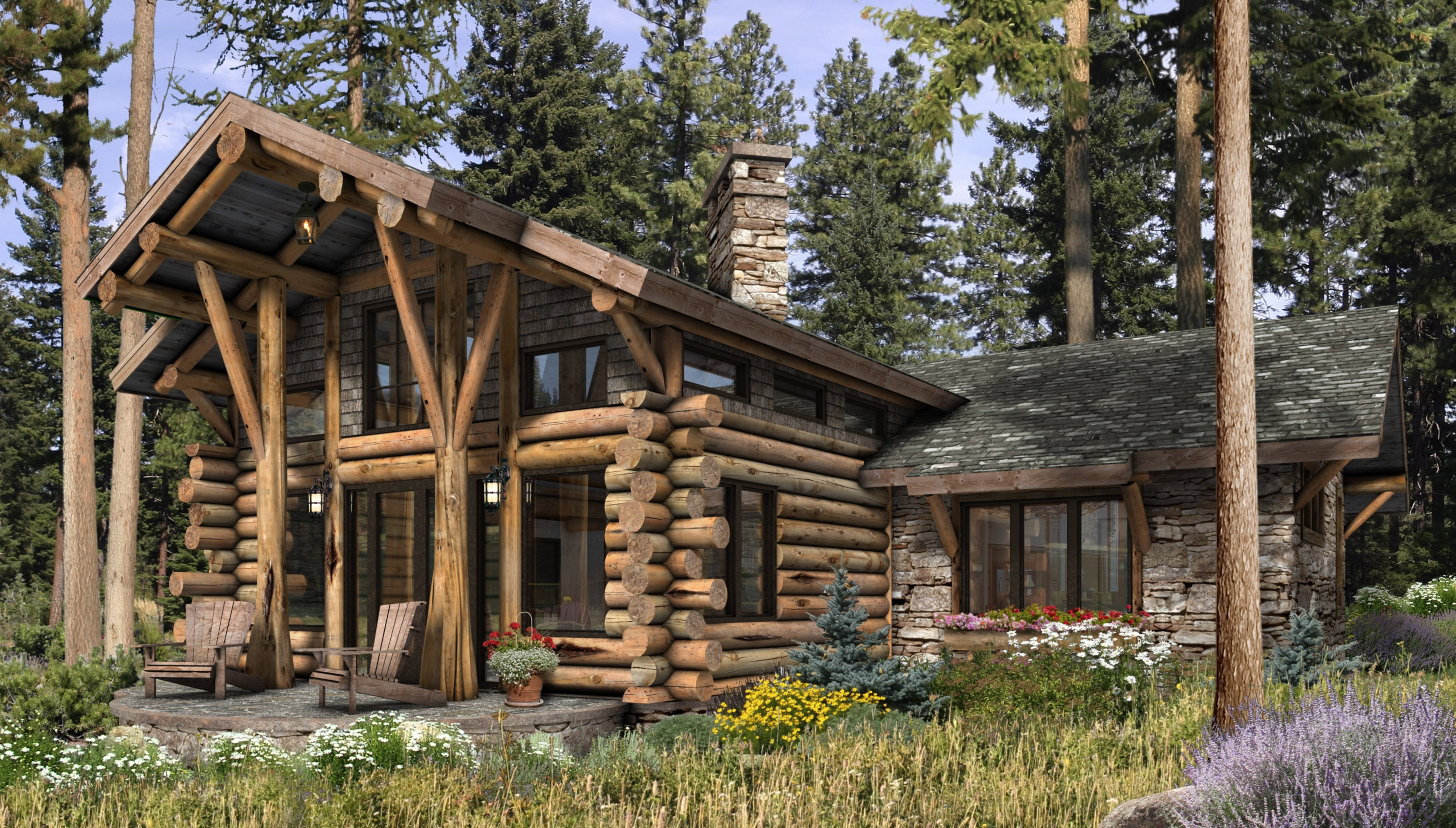 Telluride Log Cabin Plan by Architects Mountain 3000x1708