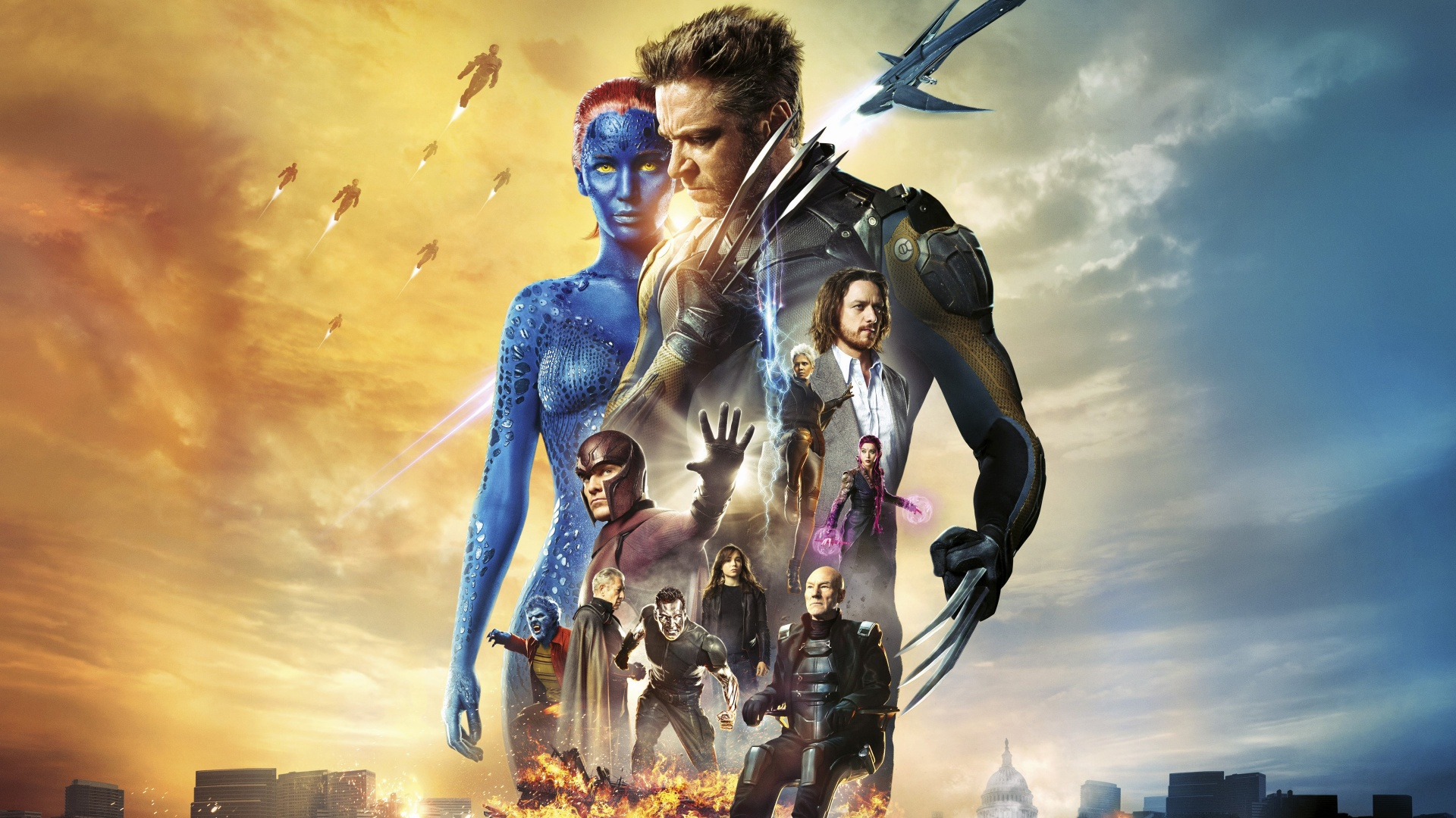 xmen days of future past   Marvel Live action film wallpaper 1920x1080
