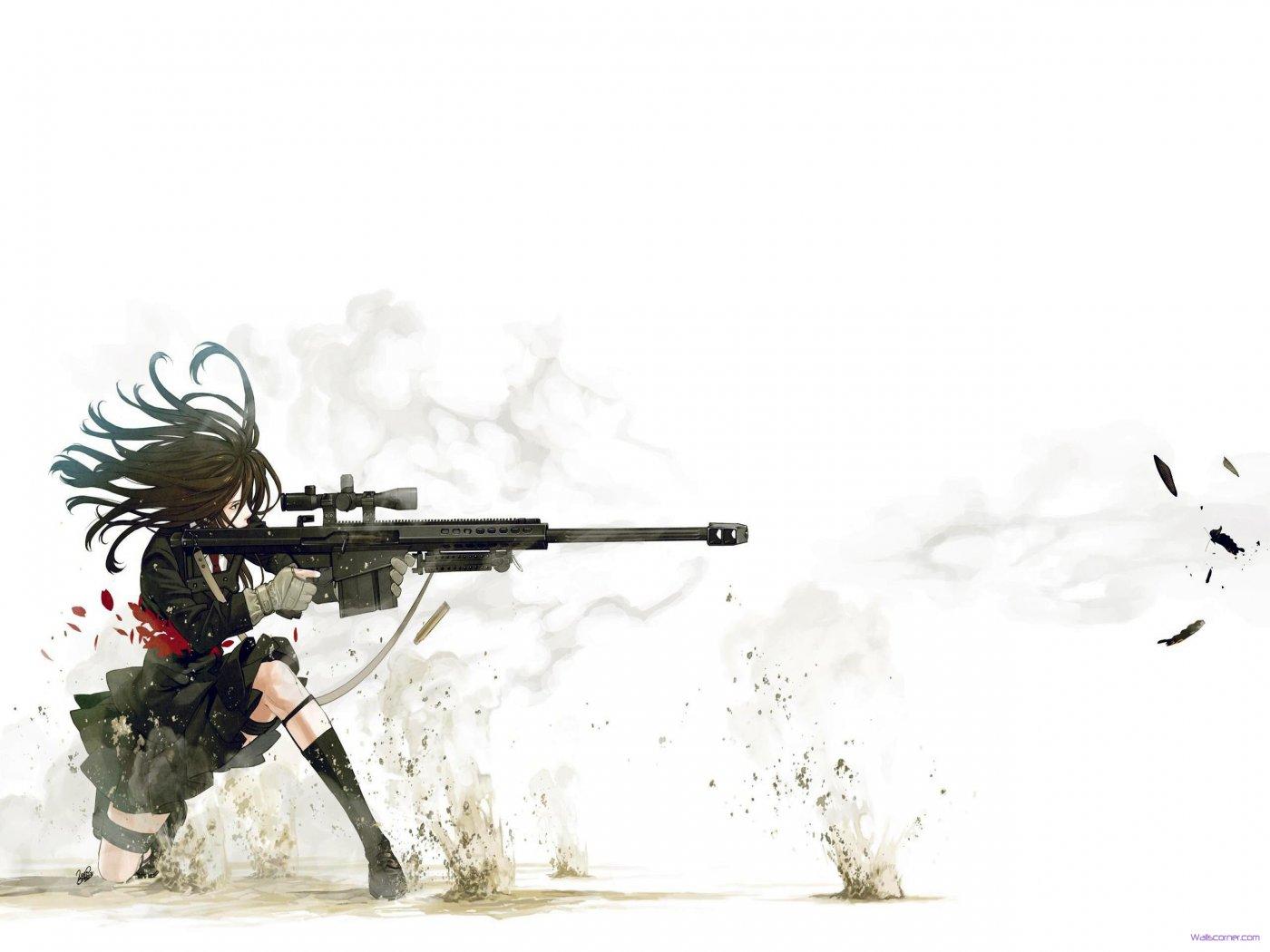 of anime sniper wide beauty anime sniper wide hd wallpaper wallpaper 1400x1050