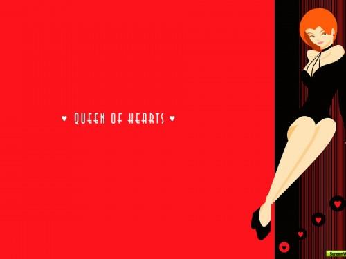 Queen Of Hearts Wallpaper 500x375