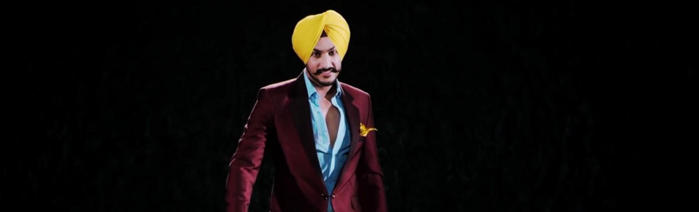 Rajvir Jawanda Yellow Turban Purple Suit Wallpaper 10342   Baltana 1400x425