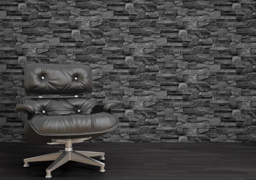 charcoal natural stone brick slate muriva 2ft wallpaper sample j27409 842x595