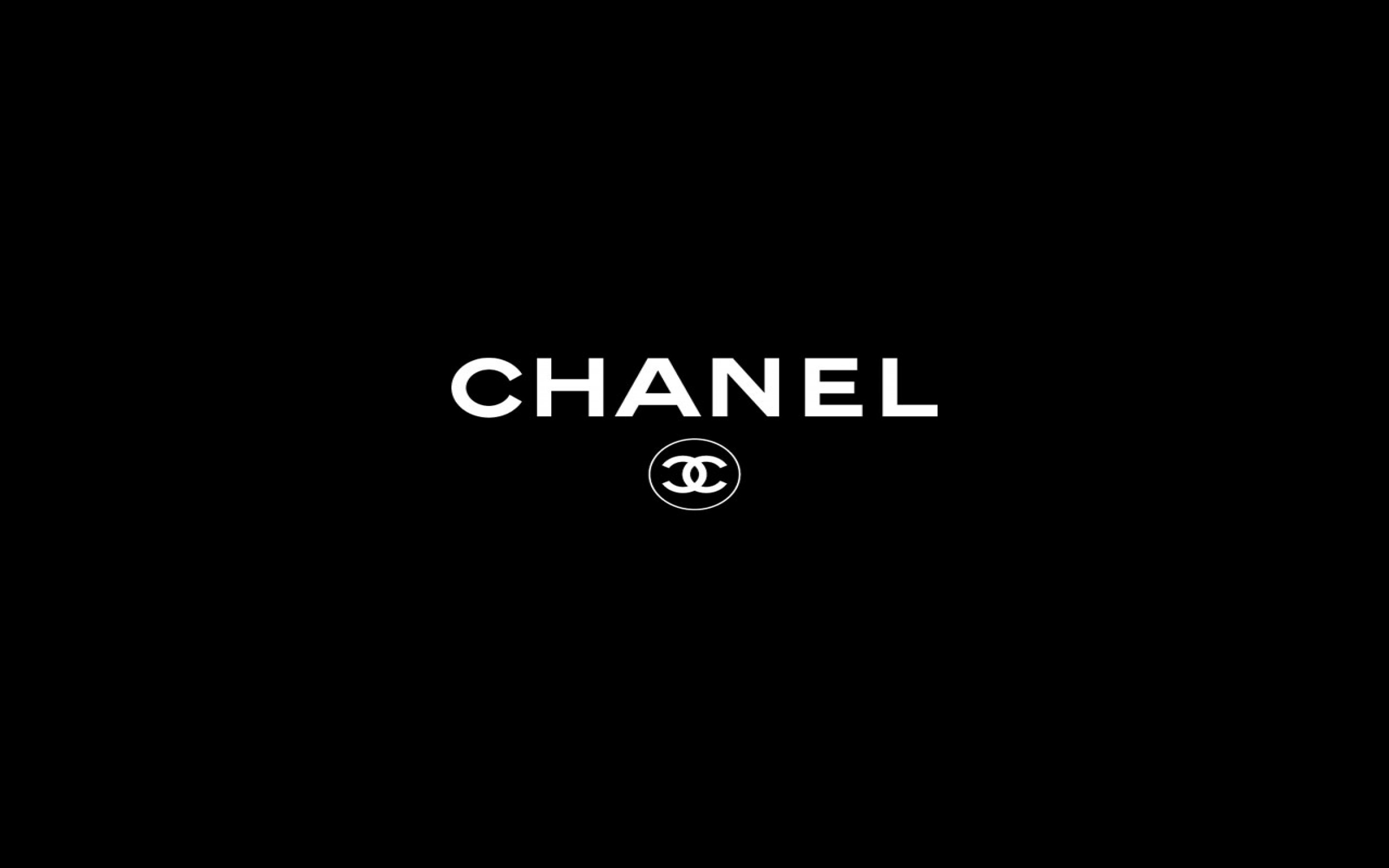 Chanel Logo Black   wallpaper 2880x1800