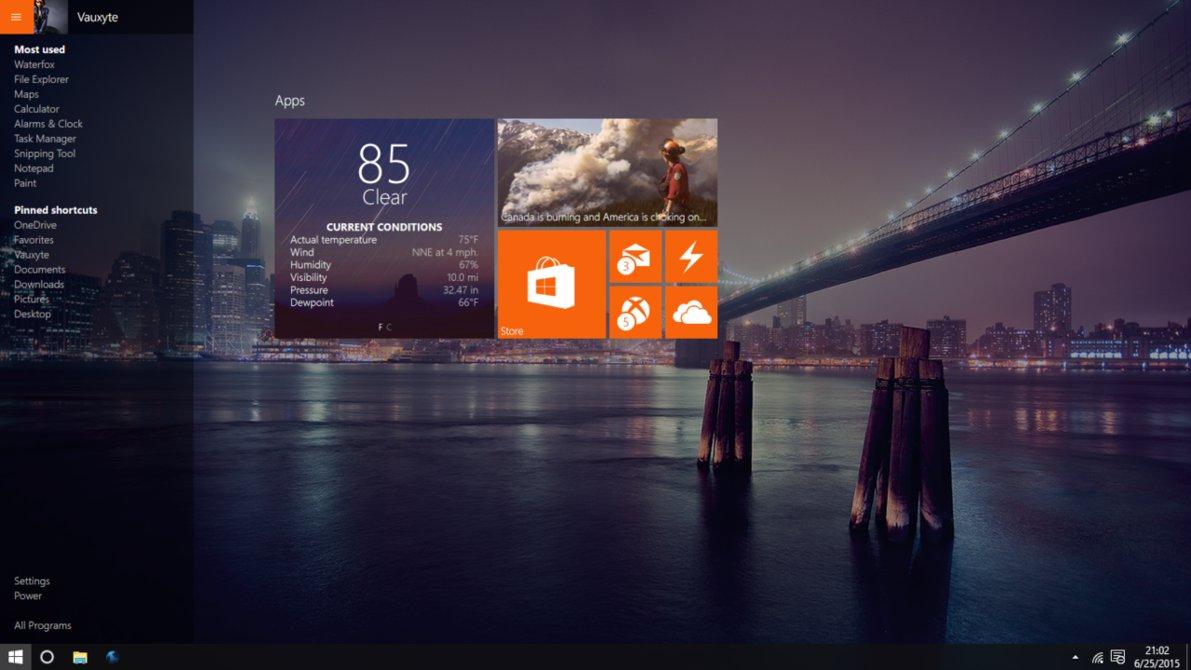 Windows 10 Start Screen by SN37 1191x670