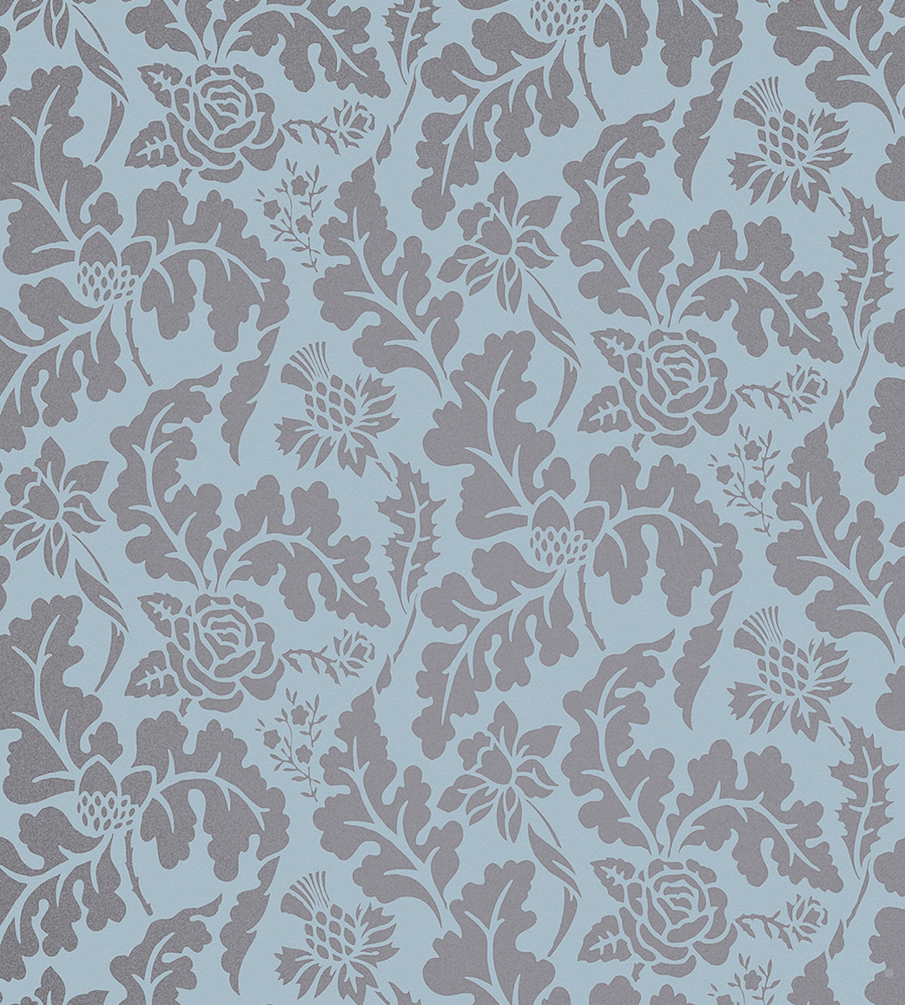 BRITISH ISLES DAMASK   POWDER BLUE GILVER   Natty Polly 1800x2000