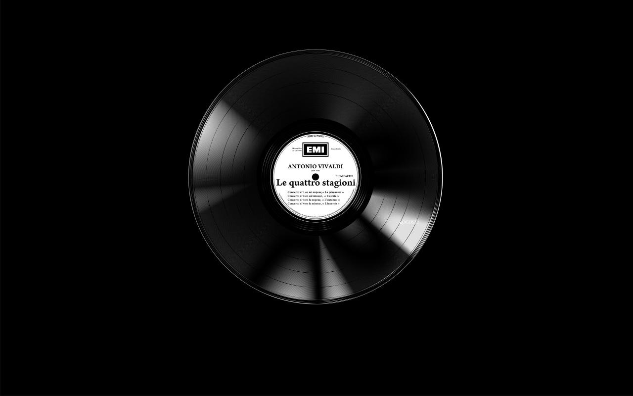 1280x800 vinyl disc desktop PC and Mac wallpaper 1280x800