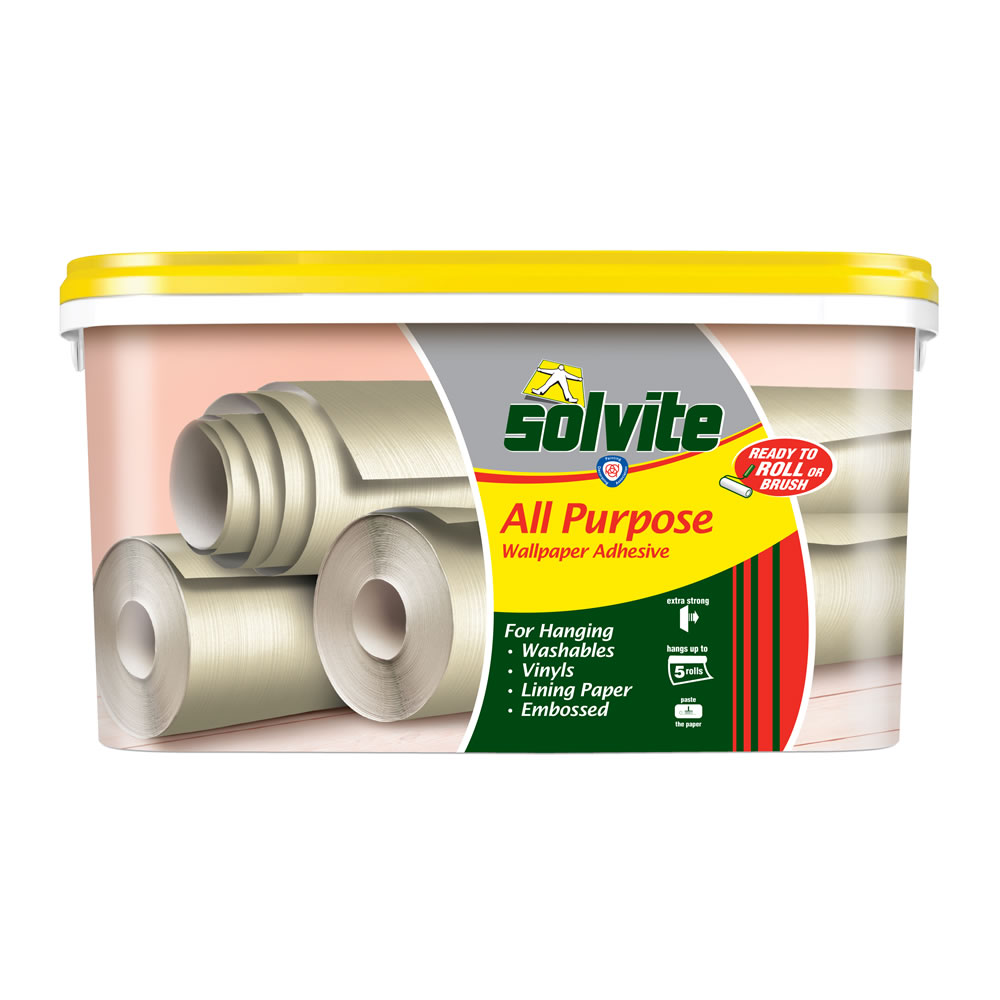 Solvite Wallpaper Adhesive Super Smooth Ready to Use 45kg at wilko 1000x1000