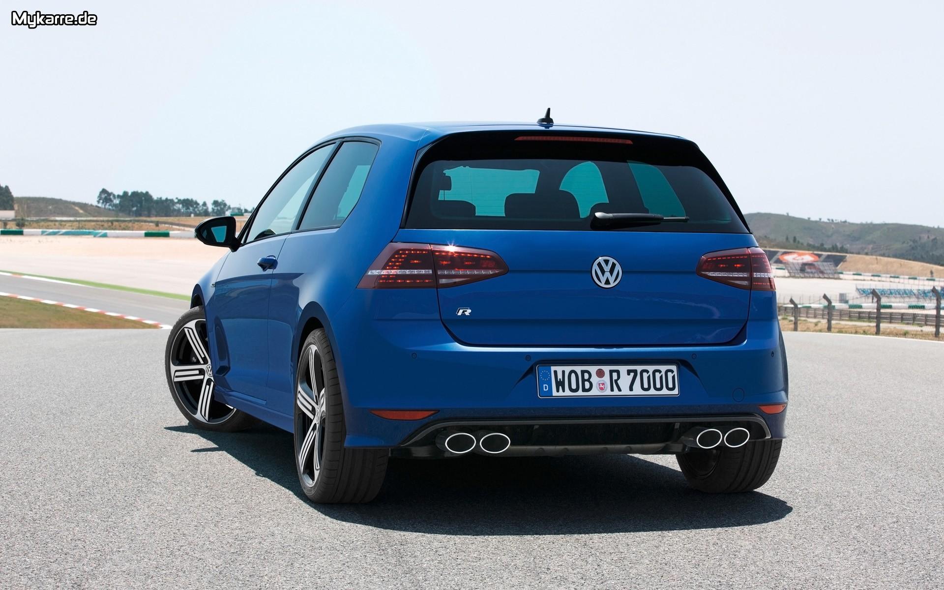 Volkswagen Golf R Wallpaper 2014 Heckansicht Auto Tuning News 1920x1200