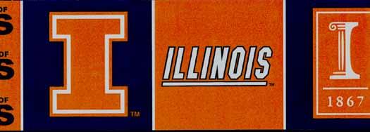 University of Illinois Wall Paper Border   Wallpaper Border 525x188