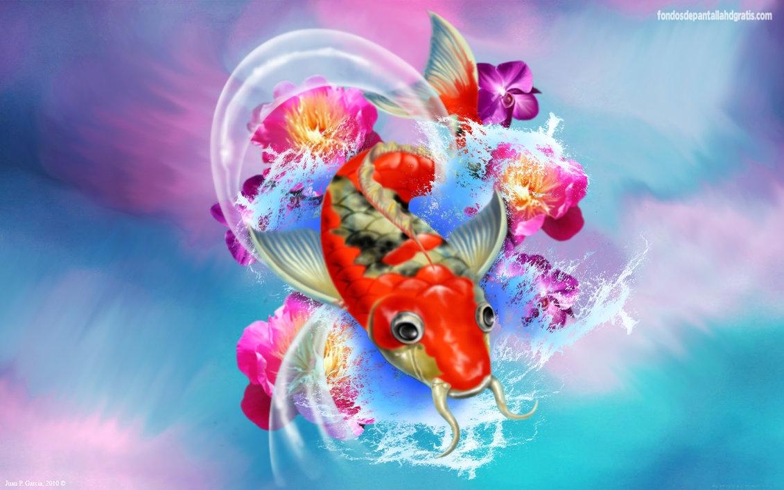HD Koi Fish Wallpaper - WallpaperSafari